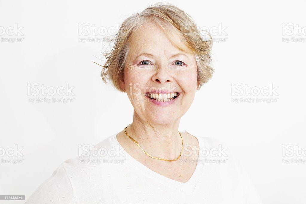 cheerfl senior woman royalty-free stock photo