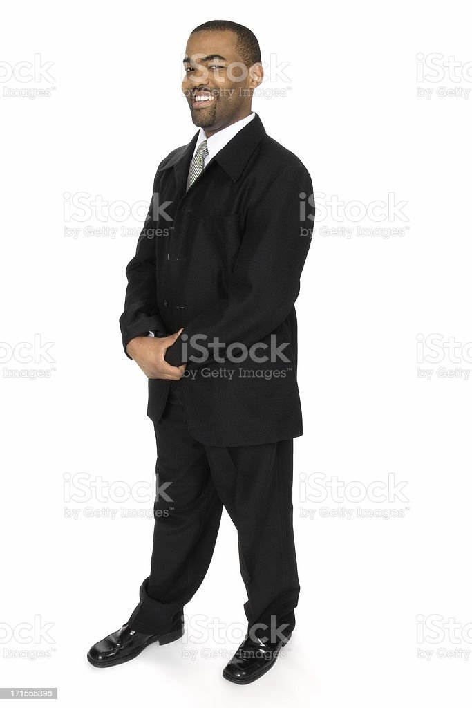 Cheerful African American Business Man stock photo