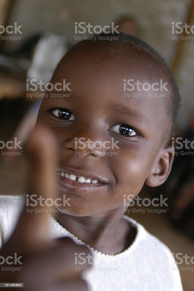 Cheerful african girl stock photo