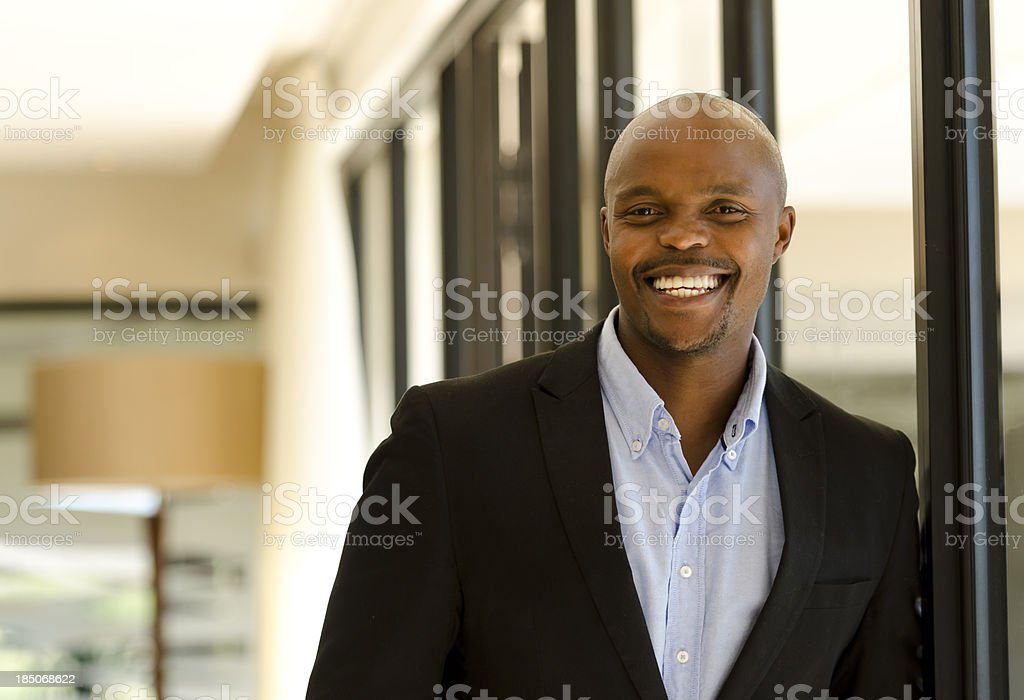 Cheerful African male royalty-free stock photo