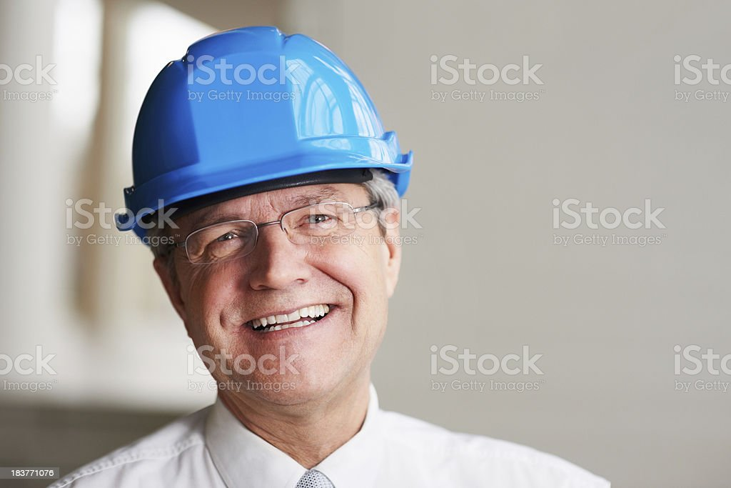 Cheerful and smiling foreman royalty-free stock photo