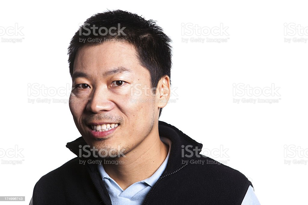 Cheerful Asian Man Portrait royalty-free stock photo