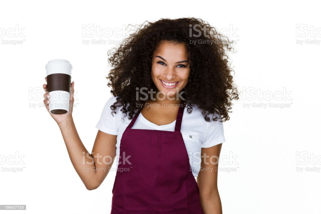 Cheerful Barista royalty-free stock photo
