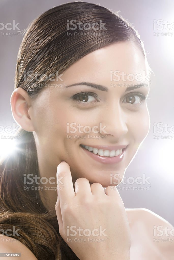 Cheerful beauty woman. royalty-free stock photo
