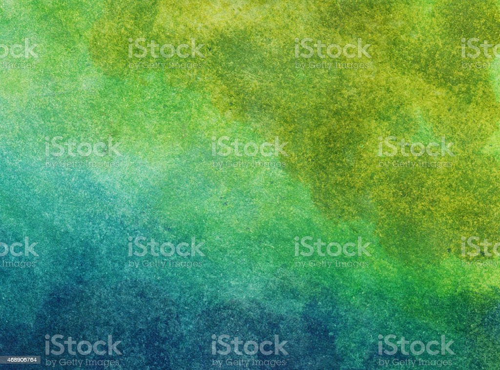 Cheerful bright colors in a gradient hand painted watercolor vector art illustration
