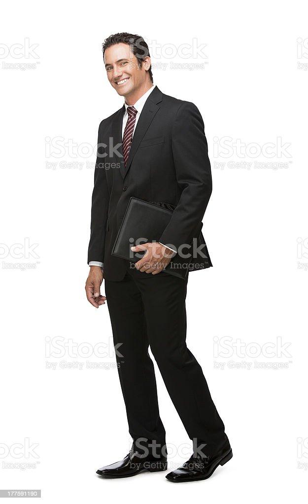 Cheerful business man full body royalty-free stock photo