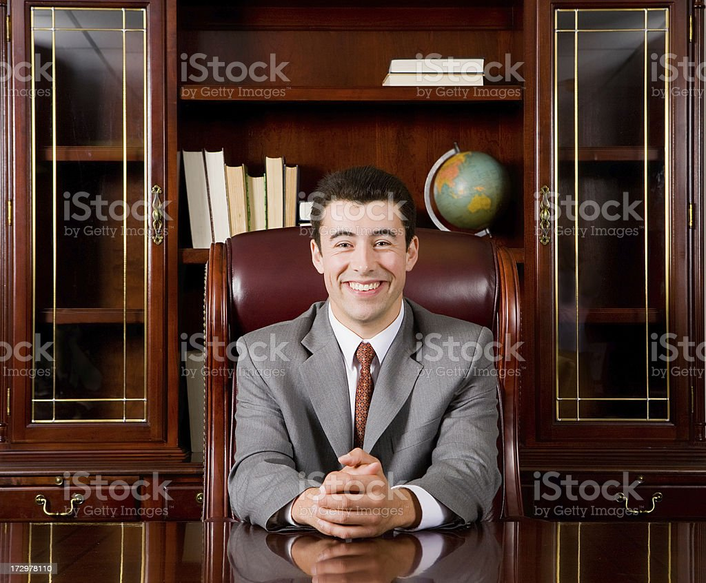 Cheerful business man royalty-free stock photo