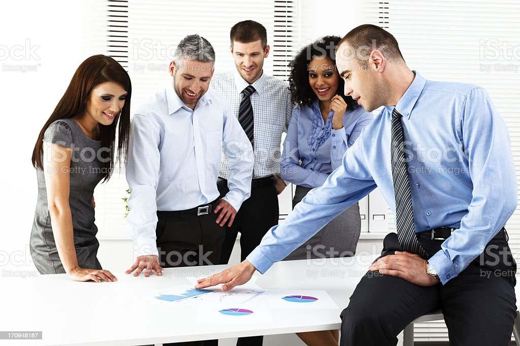 Cheerful Business Meeting royalty-free stock photo