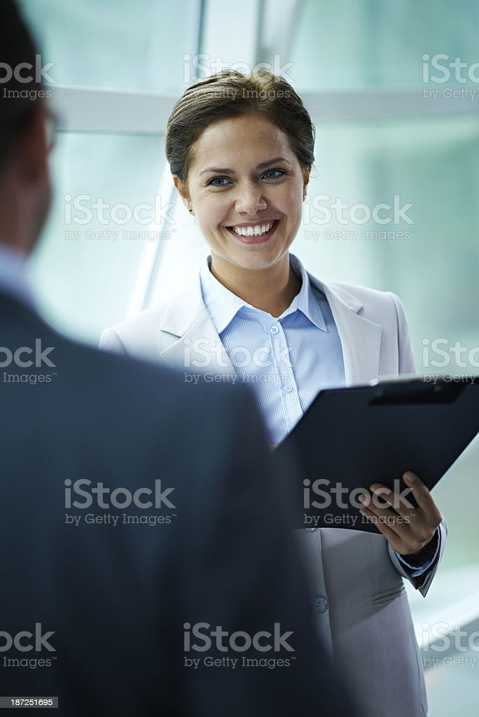 Cheerful business talk royalty-free stock photo
