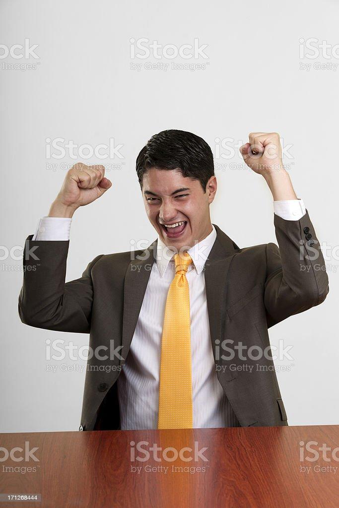 Cheerful Businessman royalty-free stock photo