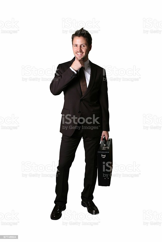 Cheerful Businessman royalty-free stock photo