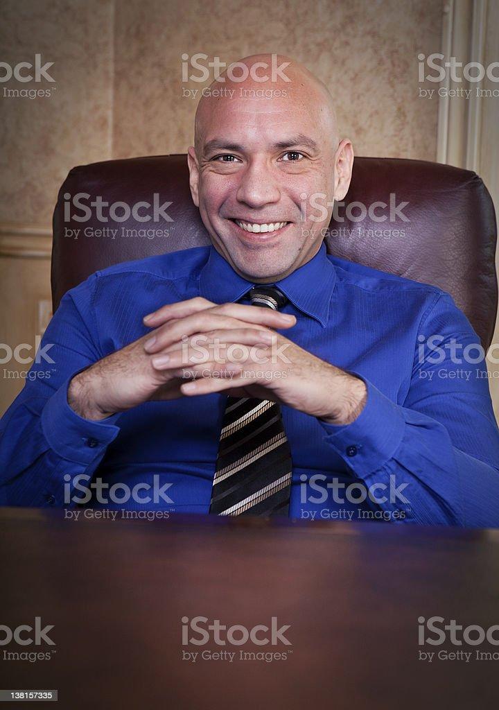 Cheerful businessman portrait royalty-free stock photo