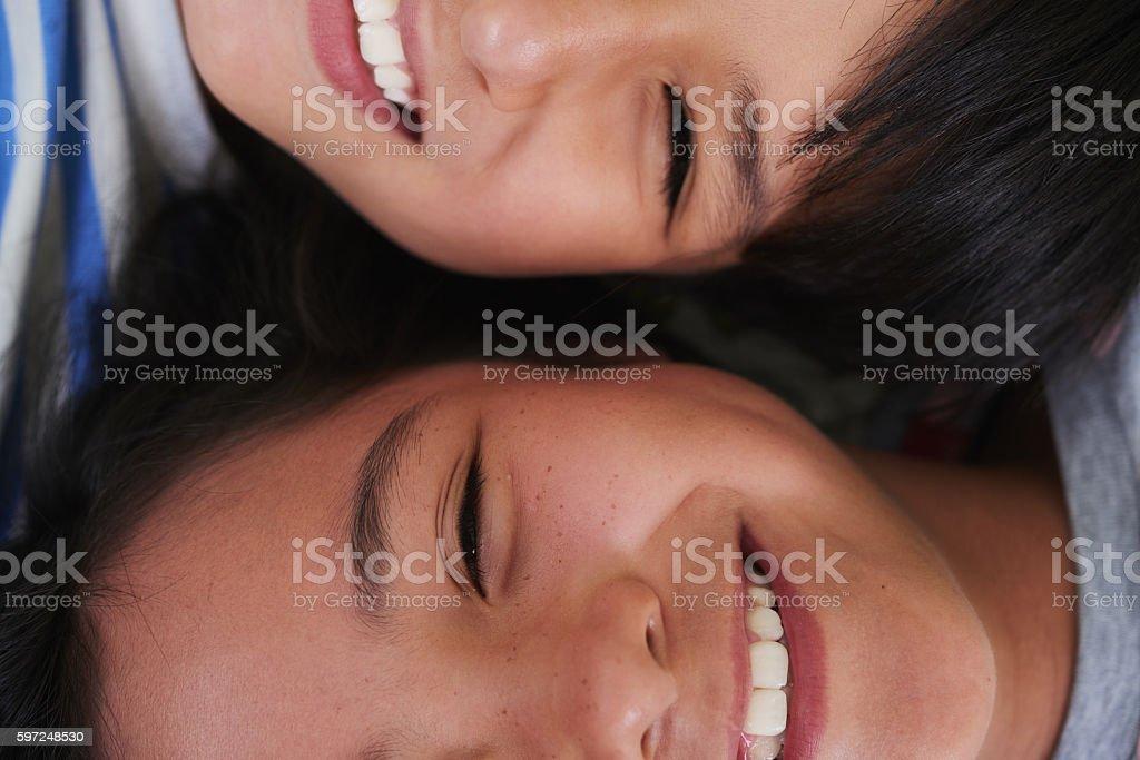 Cheerful children stock photo