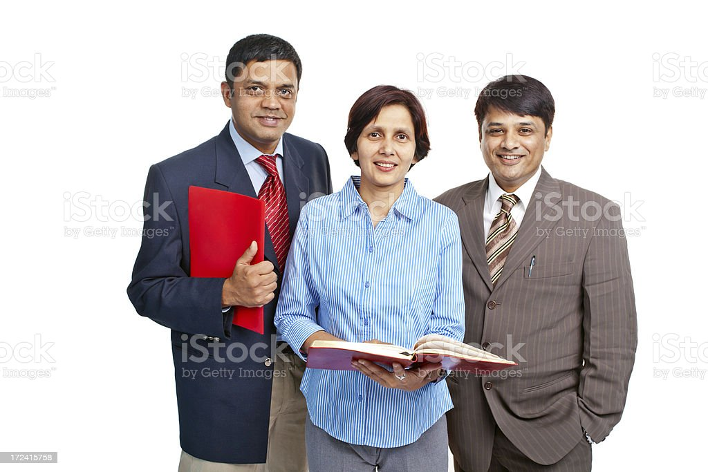Cheerful Confident Indian Corporate Business Team royalty-free stock photo