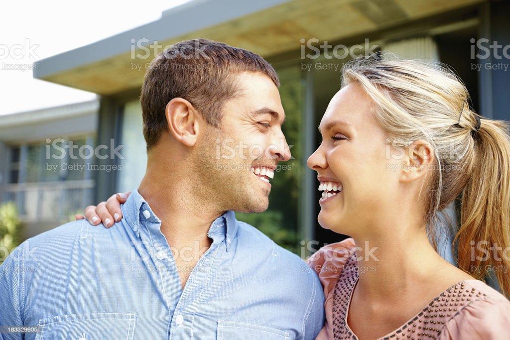 Cheerful couple royalty-free stock photo