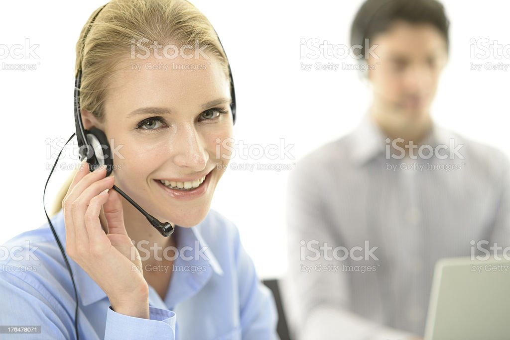 Cheerful customer service team royalty-free stock photo