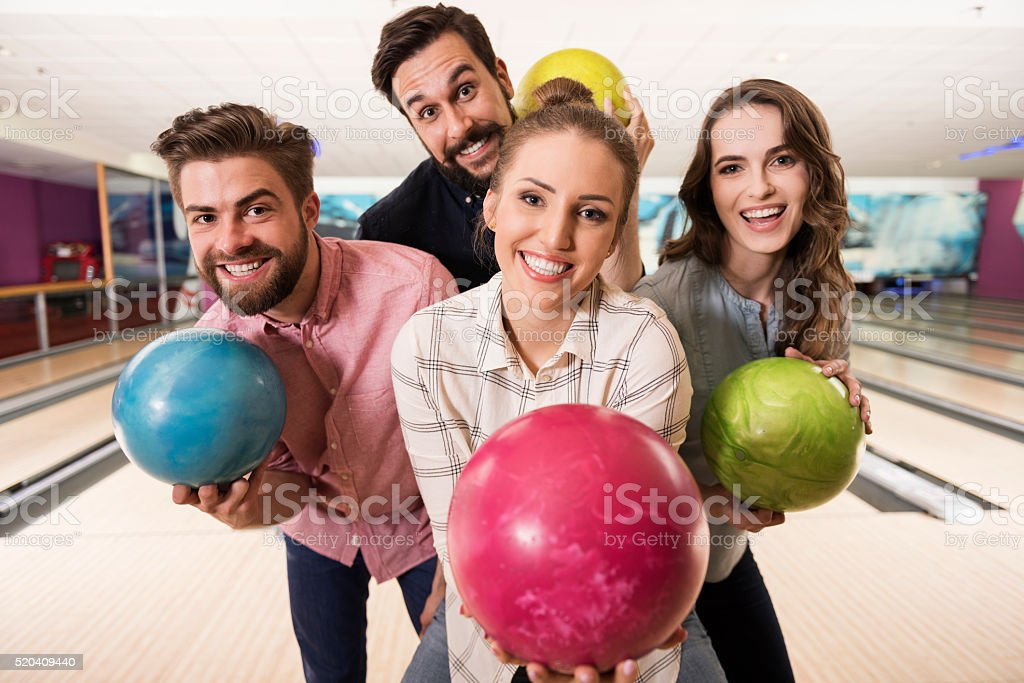 Cheerful day with best friends stock photo