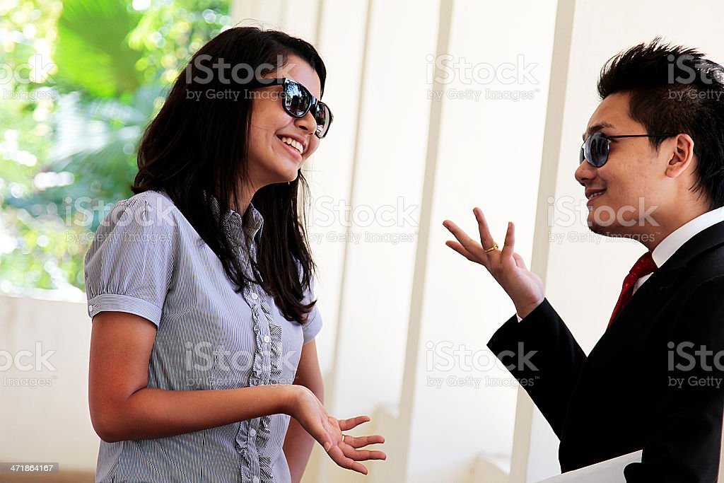 Cheerful Dialogue royalty-free stock photo