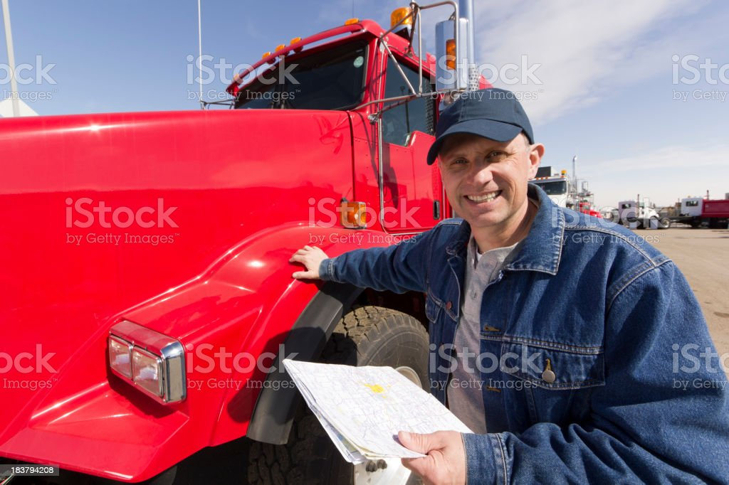 Cheerful Driver royalty-free stock photo