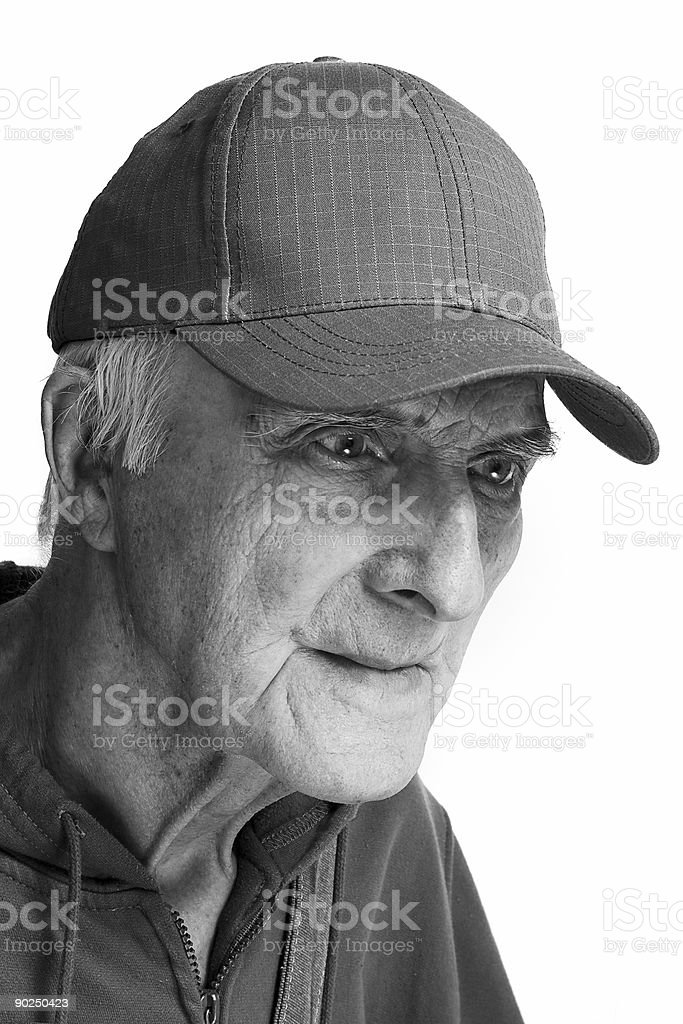 cheerful elderly man royalty-free stock photo