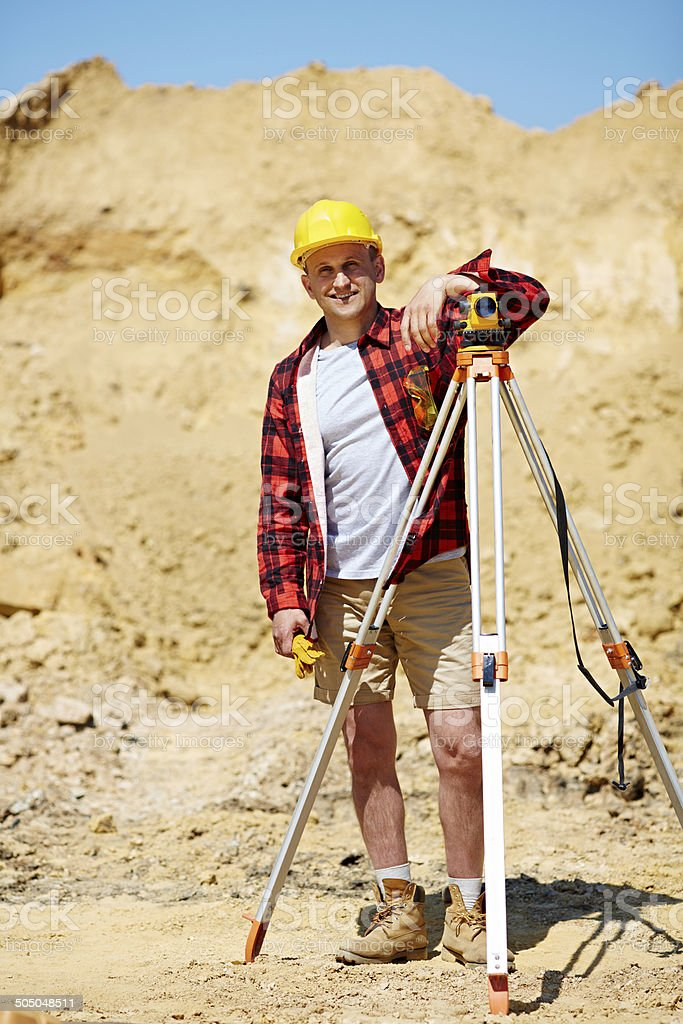 cheerful engineer royalty-free stock photo