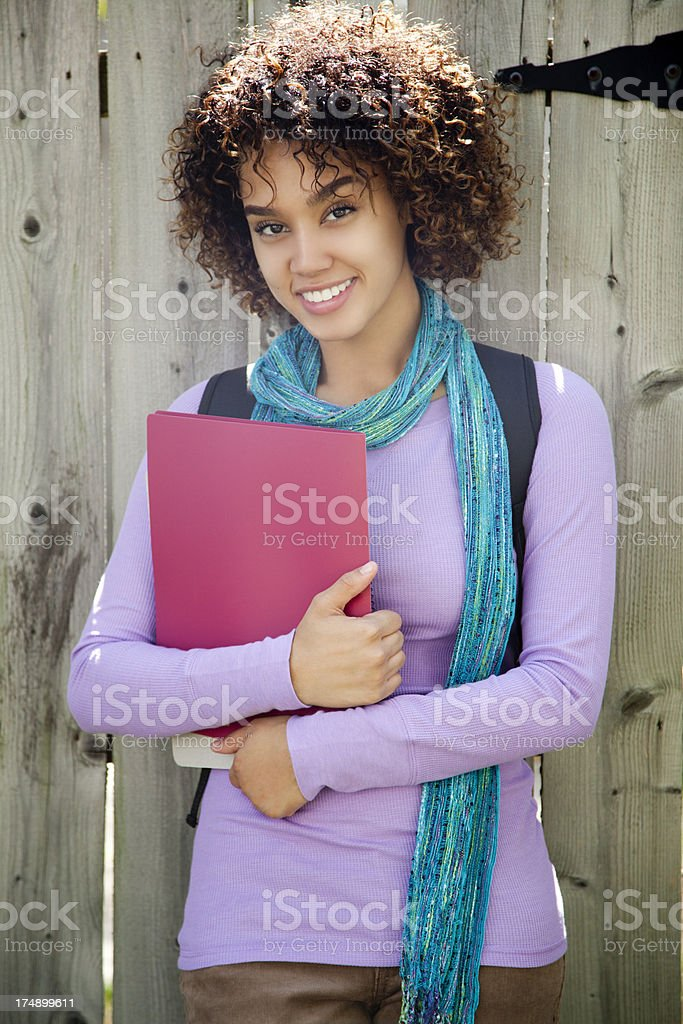 Cheerful ethnic student royalty-free stock photo