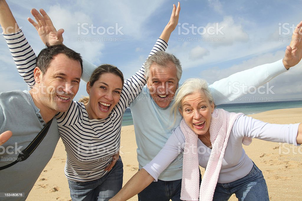 Cheerful family in vacation royalty-free stock photo