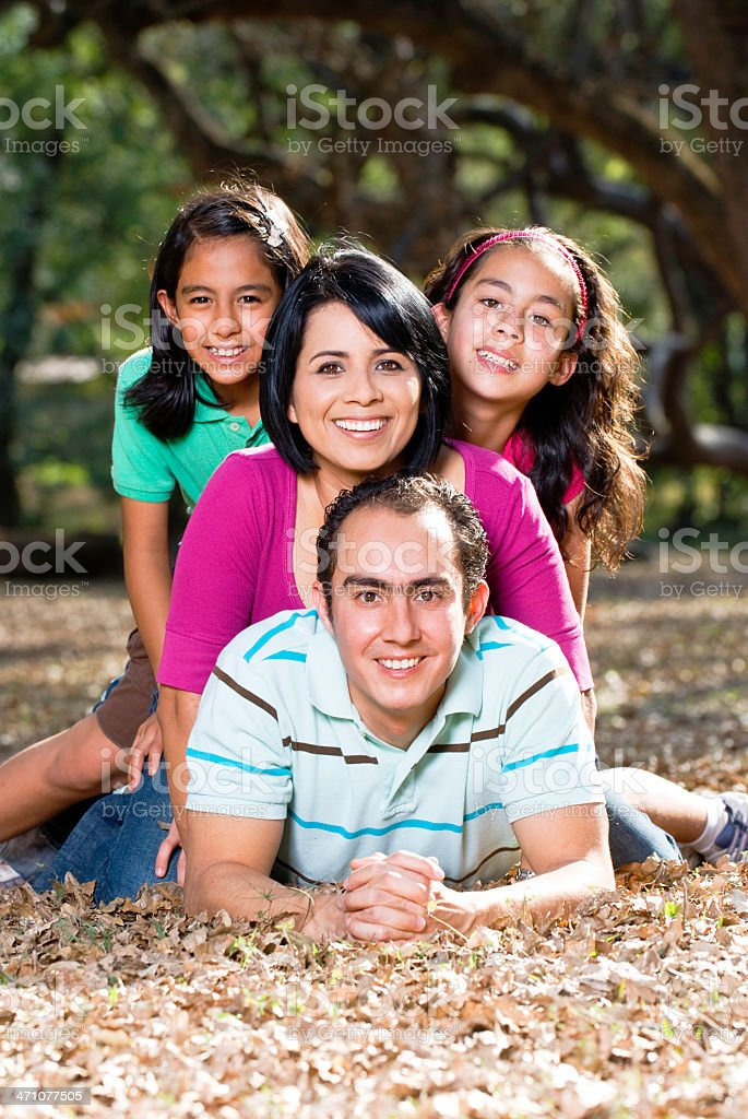 cheerful family royalty-free stock photo