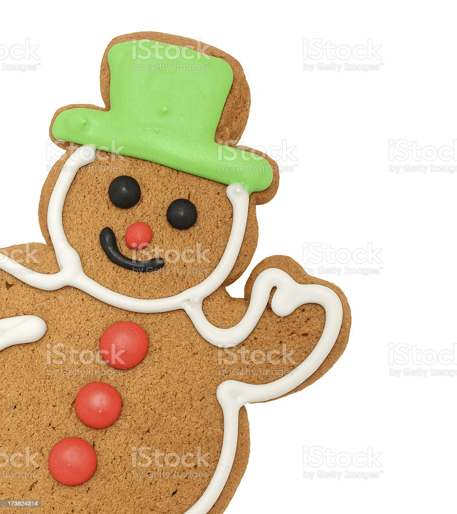 Cheerful Gingerbread Snowman royalty-free stock photo