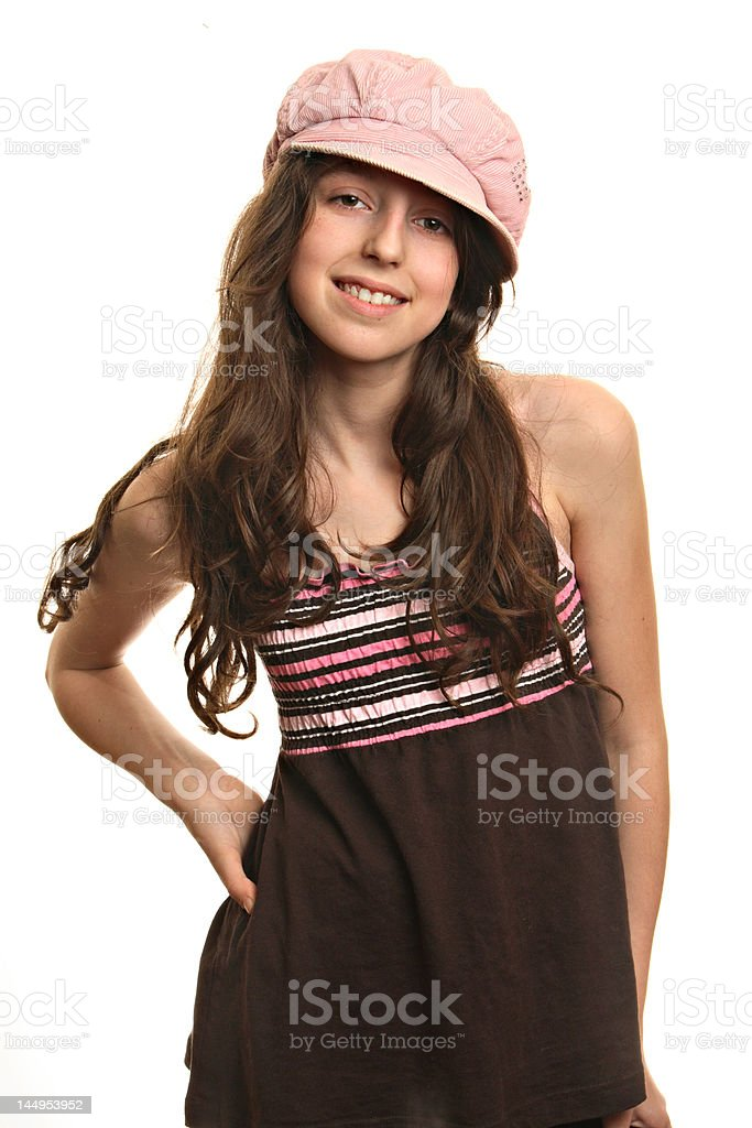Cheerful girl royalty-free stock photo