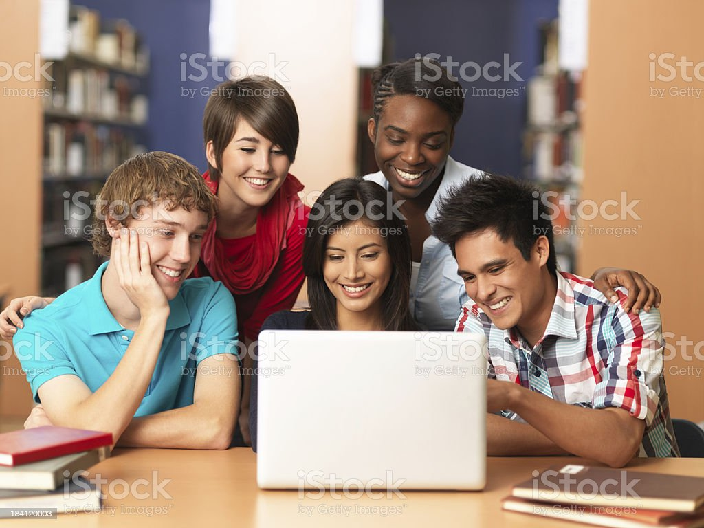 Cheerful group of students royalty-free stock photo