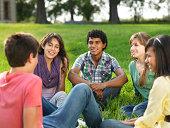 Cheerful group of teens