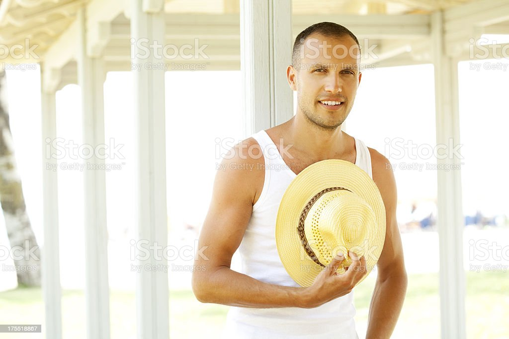 cheerful handsome man royalty-free stock photo