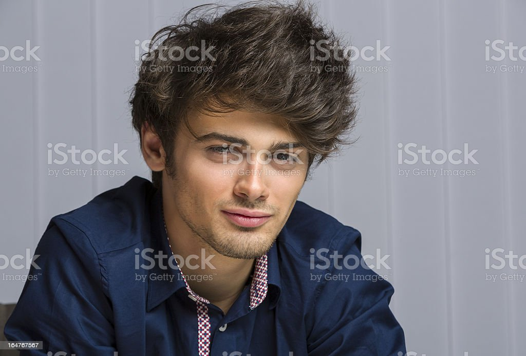 Cheerful handsome young man royalty-free stock photo