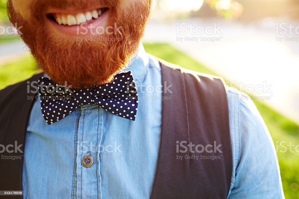 cheerful hipster stock photo