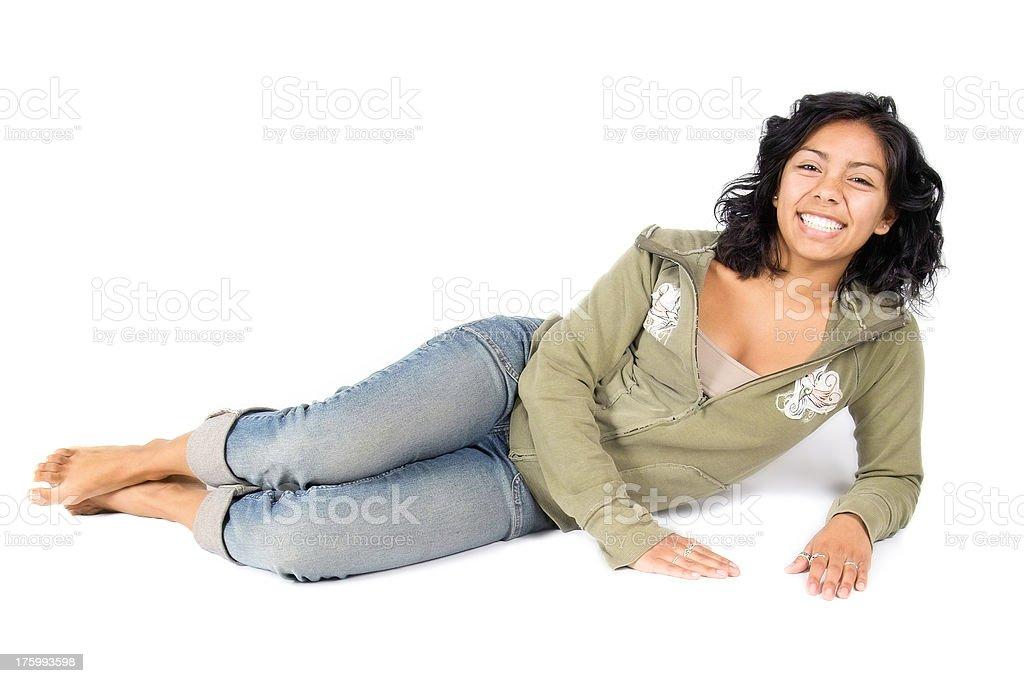 Cheerful Hispanic Teen royalty-free stock photo