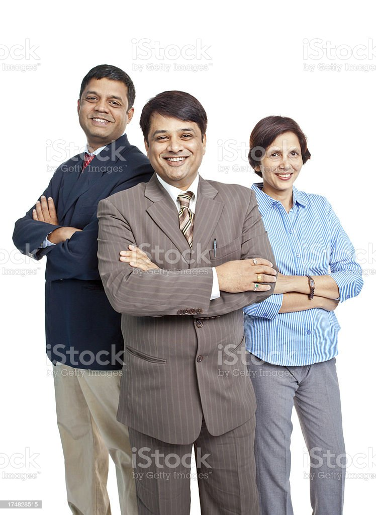 Cheerful Indian Corporate Business Team royalty-free stock photo