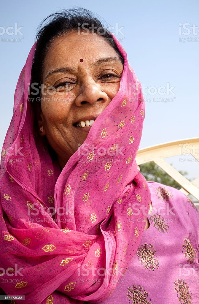 Cheerful Indian Senior Woman royalty-free stock photo