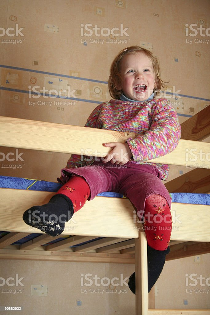 Cheerful kid stock photo