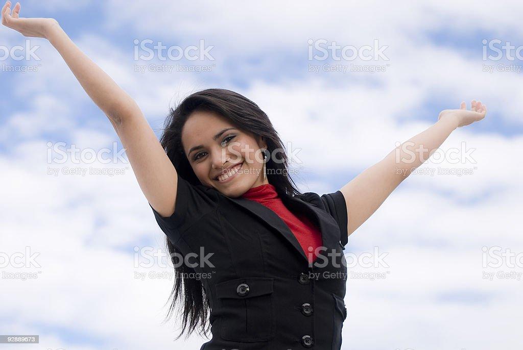 Cheerful Latina Girl royalty-free stock photo