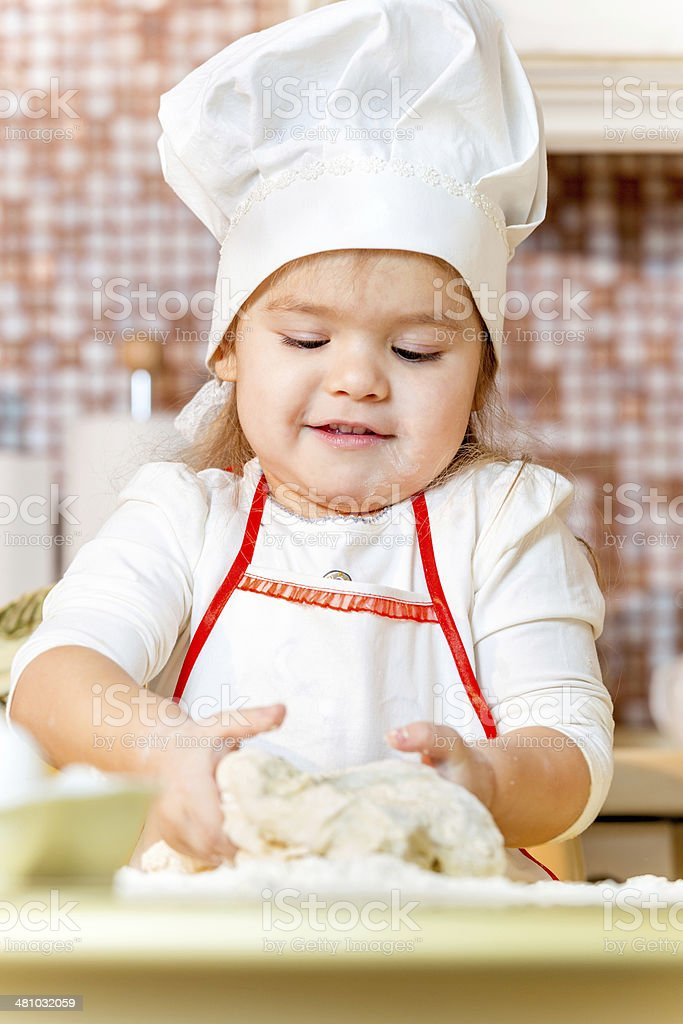 Cheerful little cook royalty-free stock photo