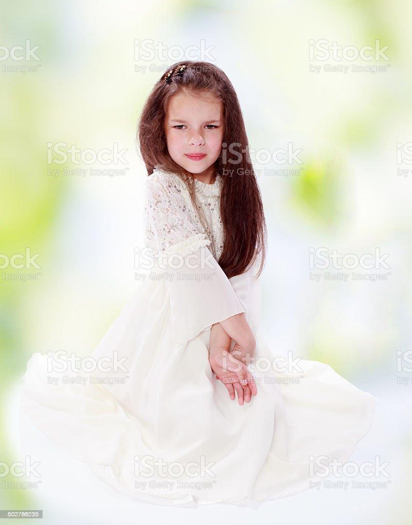 Joyeuse petite fille photo libre de droits