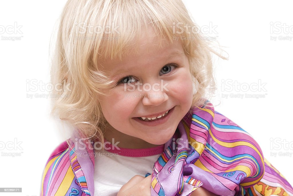 cheerful little girl stock photo