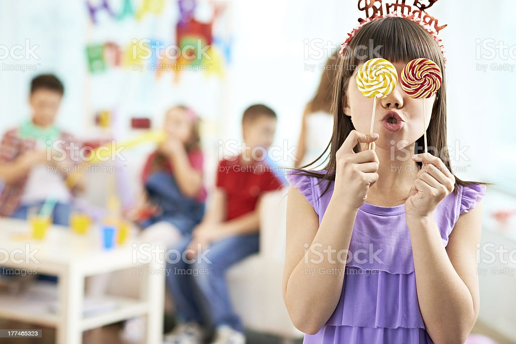 Cheerful lollipops royalty-free stock photo