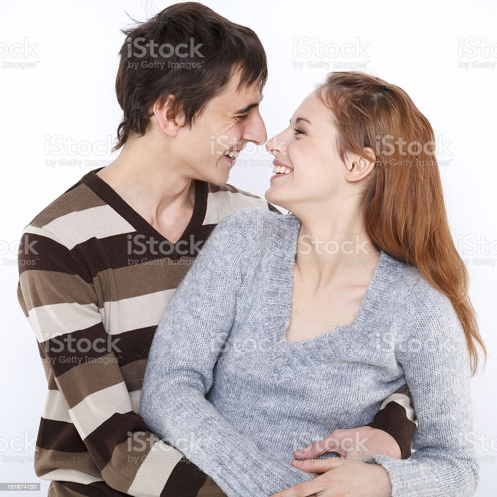 Cheerful lovers royalty-free stock photo