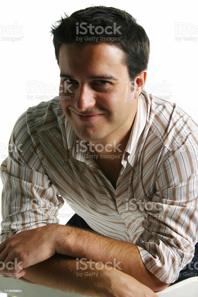 Cheerful Male stock photo