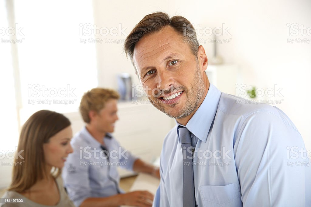 Cheerful manager royalty-free stock photo
