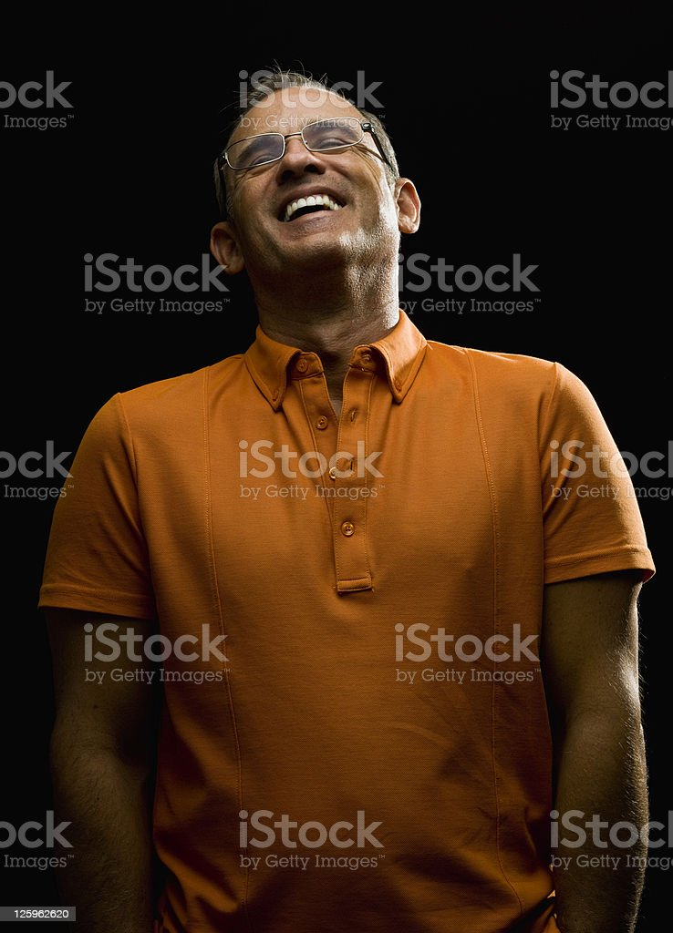 cheerful mature man royalty-free stock photo