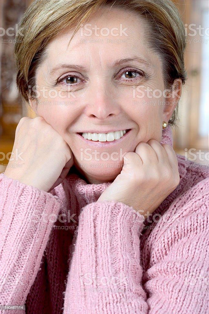 Cheerful mature woman royalty-free stock photo