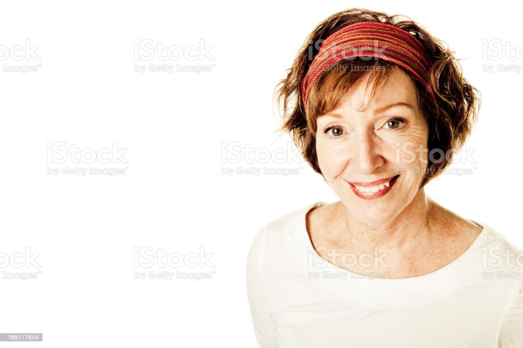 Cheerful Mature Woman royalty-free stock photo